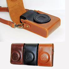 High quality Camera Bag Case Suitable For Ricoh GR grii GR2 Camera PU leather Case Protective cover