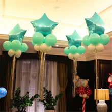 10pcs Hot Sell 10 inch Helium Balloon star Wedding Large aluminum Foil Balloons Inflatable gift Birthday Party Decor supplies 6z(China)