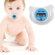 Thermometer Baby Pacifier LCD Digital Mouth Nipple Pacifier Chupeta Termometro Test Termometro Baby Nipple(China)