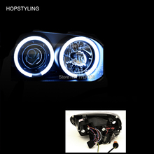 Hopstyling 1 lot CCFL Angel-Eyes Projector Head Lights For VW 98-04 GOLF IV GTI VolksWagen MK-4 4 ccfl rings +2 ccfl inverters