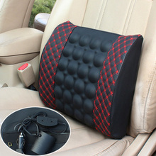 Auto electric waist by car back cushion vehicle Massage Seat support seat back cushion for leaning on protection of lumbar cush(China)