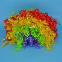 Fashion Clown Wavy Hair Wig Football Fans Colors Carnival Performance Party Props