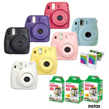 Fujifilm Instax Mini 8 Camera Yellow Blue White Black Pink Red Grape + 50 Sheet Fujifilm Fuji Instax Mini White Films Photo