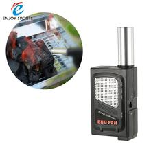 Outdoor Camping Cooking Electric BBQ Fan Air Blower Ventilator Barbecue Fire Bellow Fire Starter BBQ Fan Stainless steel Plastic