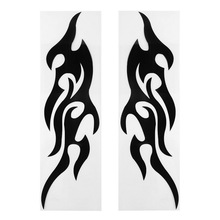 2pcs Universal Car Sticker Styling Engine Hood Motorcycle Decal Decor Mural Vinyl Covers Accessories Auto Flame Fire&high