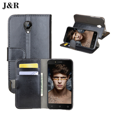 "J&R Leather Case For Micromax Bolt D320 Flip Wallet Cover For Micromax D320 4.5"" Retro Vintage Stand Mobile Phone Bags & Cases"