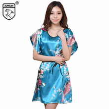 2017 Women Home Clothing Sleepwear,Silk Rayon Nightgown,Pregnant Pajamas Loose Maternity,Soft Shortsleeve Silky Gown Cool Summer