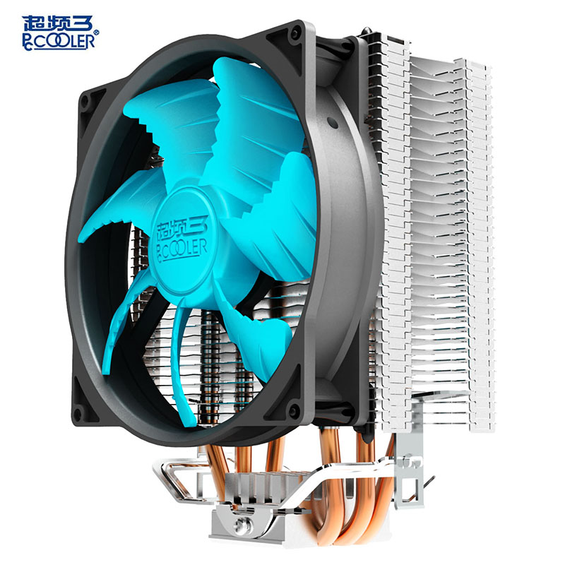 Pccooler cpu cooler 12cm quiet 4pin pwm fan 3 pure copper heatpipes cpu cooling radiator fan for AMD Intel 775 1150 1155 1156<br>