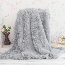 Super Soft Long Shaggy Bedspread Fuzzy Fur Plaid Faux Elegant Cozy With Fluffy Sherpa Throw Sofa Blanket Bed Sofa Blanket Gift