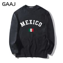 T Shirt Men Mexico Flag Slim Fit Streetwear Man & Women Unisex Long Sleeve Print Letter United Mexican States O-neck Funny Casua