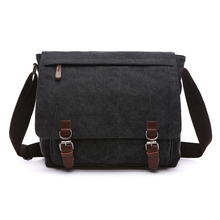 NEW ARRIVAL Canvas Leather Crossbody Bag Men Military Army Vintage Messenger Bags Postman Large Shoulder Bag Office Laptop Case