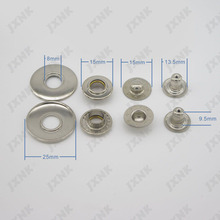 Free shipping 20sets/lot 25mm 4 part metal brass button bubble snap button fasteners scrapbooking Sewing jacket 3 colors