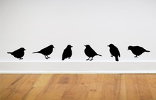 "wall stickers modern home decor - bird wall stickers ,one set = 6 pieces(App 3*5"" each) free shipping,color white pink green..(China)"