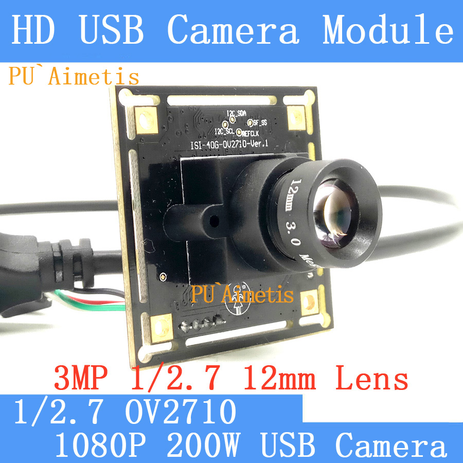 PU`Aimetis 200W Mini Camera 1080P Full HD 6mm lens MJPEG 30fps CMOS OV2710 Mini CCTV Android Linux UVC Webcam USB Camera Module<br>
