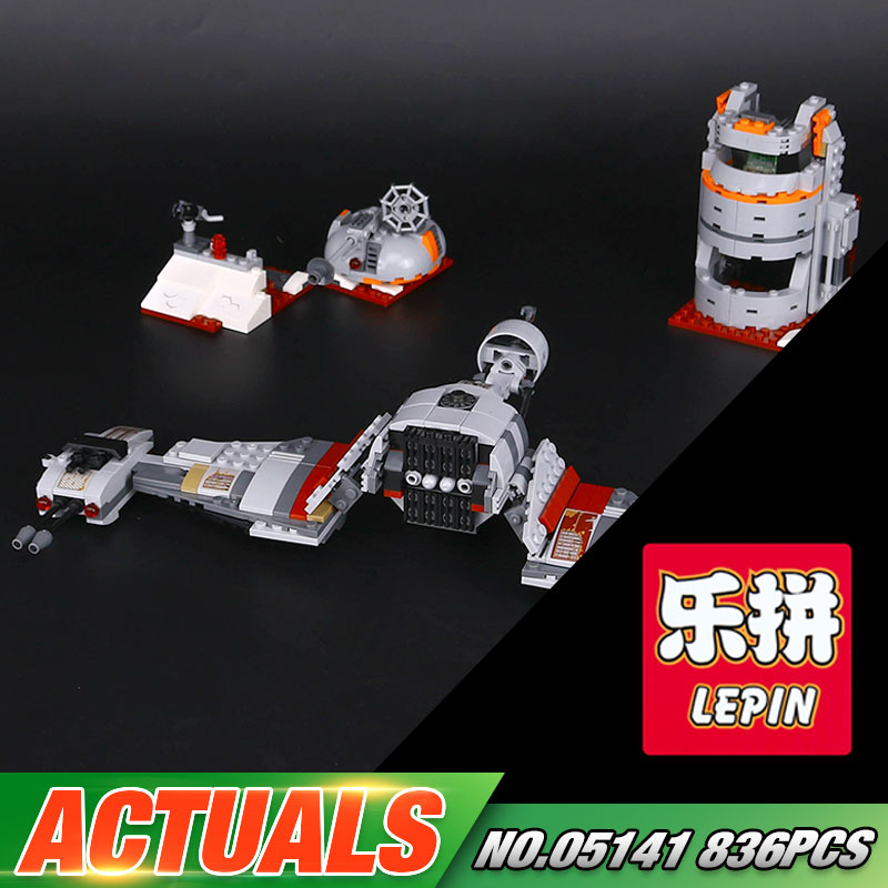 Lepin 05141 New 836Pcs Star Plan Series The Defense Of Crait Set 75202 Building Blocks Bricks Educational Toys For Kids As Gifts<br>