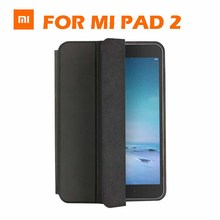 in stock MiPad 2 metal type c win10 tablet pc smart leather case 100% original brand for xiaomi mi pad 2 flip cover