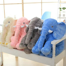 60cm New Style Colorful Elephant Plush Toys Elephant pillow Baby bed Cushion stuffed animals doll