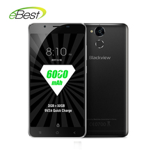 "Blackview P2 lite 6000mAh Mobile Phone 5.5"" FHD MTK6753 Octa Core Android 7.0 3GB RAM 32GB ROM 13MP Fingerprint ID Cellphone"