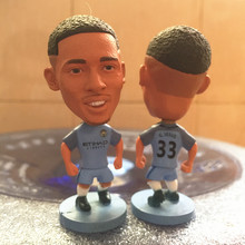 Soccerwe 2016-17 Season 2.55 Inches Height Football Dolls Premier City Player 33 Gabriel Jesus Doll for Fans Collections Blue