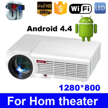 Android 4.4 5500 lumens 1080P 3D LED Projector Full HD slide watch proyector cell phone mobile digital multimedia beamer HDMI