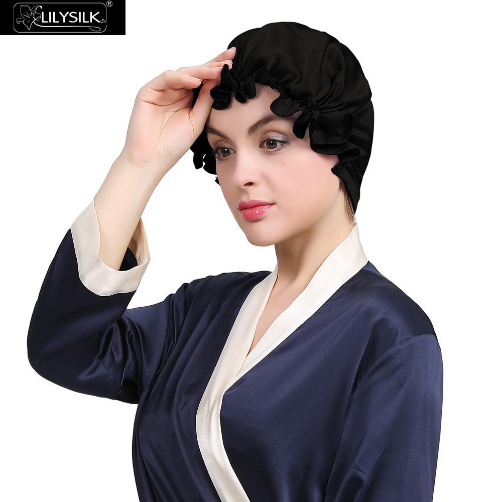 Lilysilk Skullies &amp; Beanies Pure Silk Pure Sleep Cap 2017 Women Hat 19 Momme Elegant Classic Beanie Style Hair Care Night SeamedОдежда и ак�е��уары<br><br><br>Aliexpress