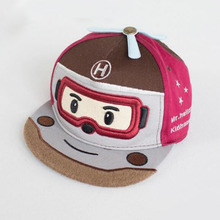 Robocar Poli baseball cap snapback hat child cartoon Pororo Robot Car visor hat Transformation 5 panel gorras bone Kids boy girl(China)
