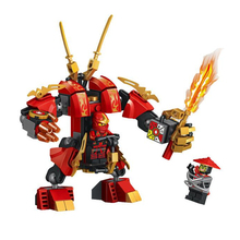 2016 New Lele fighters Ninjagoes Flame Mech Building Blocks Sets Ninja Toys Brick Boys Gift Compatible With Lepin