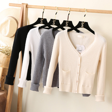 2017 Women Sweater Pull Poncho A Spring And Autumn Harajuku Pit V Neck Knit Shirt Cardigan Sweater Lady Deep Thin Coat Sleeves(China)