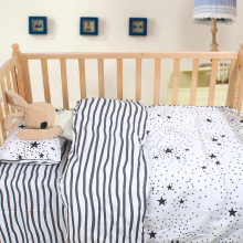 Children's Bedding Sets Cotton Animal Plaid Dot Striped Baby Bed Accessories Crib Bedding Set for Newborns