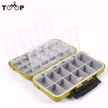 Hot Sale! Waterproof Plastic Large Storage Case Fly Fishing Box Lure Spoon Hook Bait Fishing Tackle Box Army Green(China)
