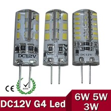 G4 LED 12V Lamp DC Led Bulb Light 3W 5W 6W Replace Halogen Lamp 360 Beam Angle Free Shipping