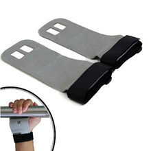 1 Pair S M L Hand Grip Synthetic Leather Crossfit Gymnastics Guard Palm Protectors Glove Pull Up Bar Weight Lifting Glove(China)