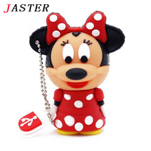 JASTER cartoon pendrive Minnie mickey mouse usb flash drive 4GB 8GB 16GB  pen drives memory stick free shipping + Drop shipping