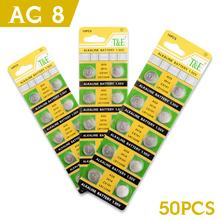 Cheap Sale 50 Pcs(5cards) 1.55v AG8/391A/LR48/SR1120/I91 button cell battery alkaline button battery in retail pack Great Power(China)