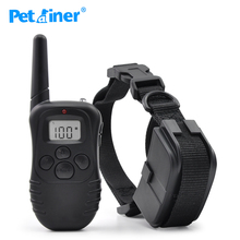 Ipets 998D-1 Newest Hot Sale 300M Shock Vibra Remote Control LCD Electric Dog Training Collar(China)