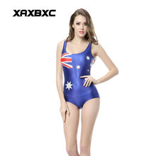 XAXBXC 1124 Summer Sexy Girl Swimwear Bodysuit Australia Flag 3D Prints One Piece Women Swimsuit Sport Bathing Suit