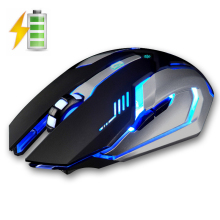 X7 2.4GHz Wireless Rechargeable LED Backlit Mouse USB Optical 6 Buttons Ergonomic Silent Gaming Mouse Gamer 1600DPI PC Laptop