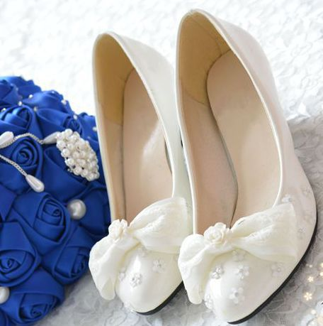 New design fashion female wedding shoe rose flower bow bowtie lace brides shoes different heel can be made XNA 075<br><br>Aliexpress