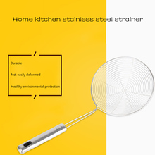 Top Mesh Ladle Oil Filter Spoons Stainless Steel Net Colanders Food Strainers Large Small Cooking Tool(China)