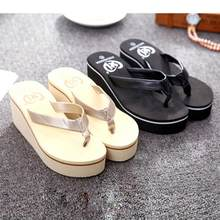 New Arrival Best Selling Fashion Summer Sexy Flip Flops Women Candy Color Sandals  Bohemian Muffin Slope 40f8d81d95cc