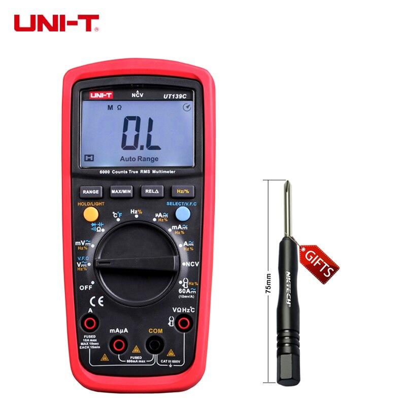 LCD Display UNI-T UT139C UT139B UT139C True RMS Electrical Digital Multimeters LCR Meter Handheld Tester Multimetro Ammeter<br>