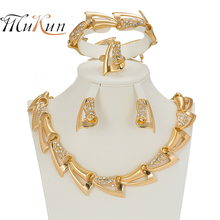 MUKUN Luxury Bridal Gold-color Jewelry Sets For Women Fashion Unique Nigerian Wedding African Beads Chokers Costume Dubai Sets