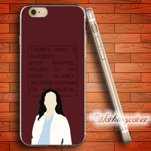 Greys Anatomy Cristina Yang Soft Clear TPU Case for IPhone X 8 7 6 6S Plus 5S SE 5 5C 4S 4 Plus Case Ultra Thin Silicone Cover.