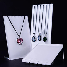 Lot of 3 Screw Necklace Holder Acrylic White or Silver Color Necklace Stand Pendant Display Stand Big Acrylic board(China)