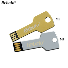 Creative metal U disk 64GB Mini metal Aluminium key shape USB flash drive 4GB 8GB 16GB 32GB Pen Drive Memory USB Stick Pendrive