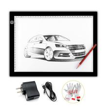 2015 New Parblo A4 Led Light Pad Copy Tracing Borad Slim A4S Graphic Led Light Pad + 3 in 1 Cleaning Kit (Gift)(China)
