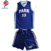 Royal Blue Home And White Away Reversible Basketball Uniforms(China)