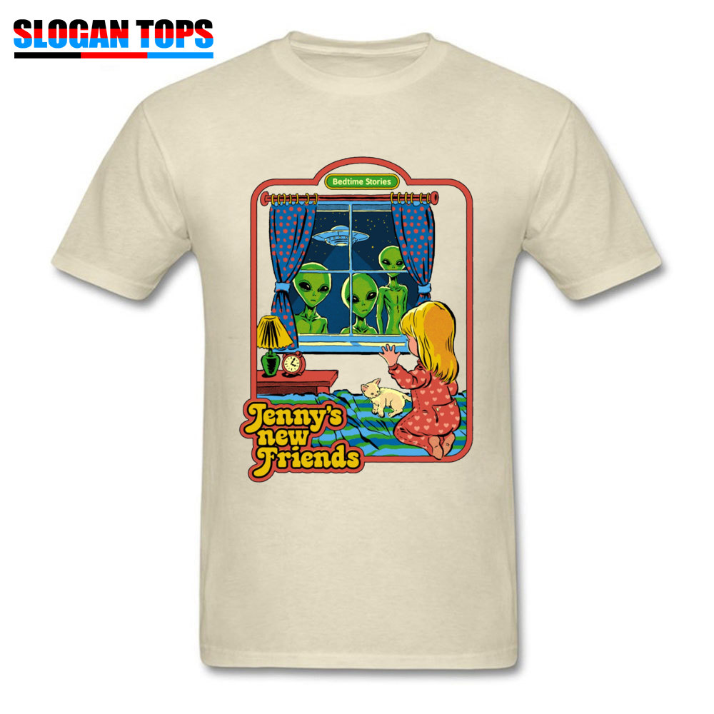 Jennys-New-Friends 100% Cotton Funny T Shirt Rife Short Sleeve Mens Tshirts Casual NEW YEAR DAY T-shirts Crew Neck Jennys-New-Friends beige