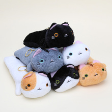 12pcs/set Cartoon Kutusita Nyanko Cat Plush Toy Super Kawaii Mini Boots Cat pencil bag plush Dolls