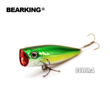 Bearking professional fishing lures, popper 55mm 7.0g, hard baits,3D eyes,fishing tackle.bearking crankbait good hooks